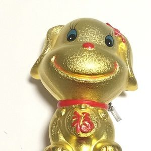 Other - Piggy Bank Fancy Gold Glitter Dog Lucky Fortune